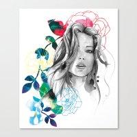 Kristen Fashion Watercol… Canvas Print
