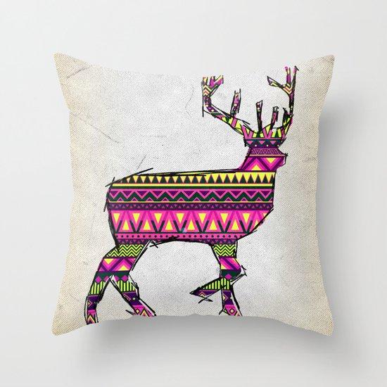 Deer Navajos pattern Throw Pillow
