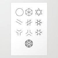The Story of Geometry Art Print