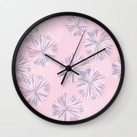 Soft Retro Bloom Wall Clock
