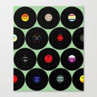 Vinyl Love Canvas Print