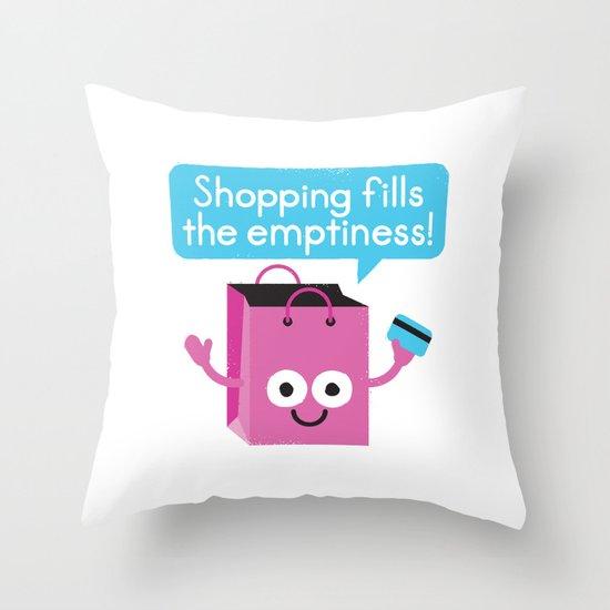 Retail Therapy Throw Pillow
