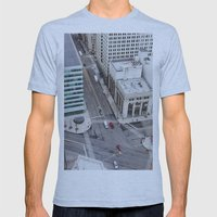 Michigan Ave & Griswold … Mens Fitted Tee Athletic Blue SMALL