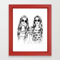 two'fashions girls Framed Art Print