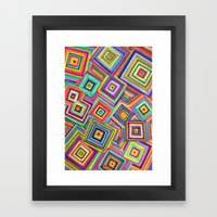 Infinite Square Framed Art Print