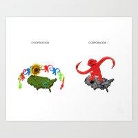 Cooperation Corporation Art Print