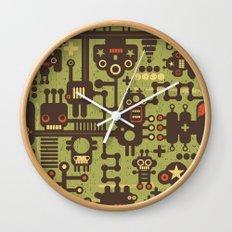 World of robots. Wall Clock