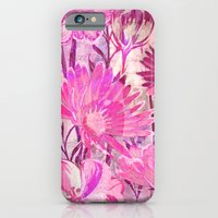 iPhone Cases featuring pink floral and words by clemm