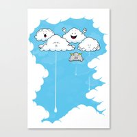 Young Clouds fooling around Canvas Print