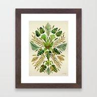 Tropical Symmetry – Ol… Framed Art Print