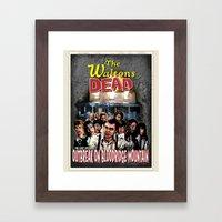 The Waltons Dead Framed Art Print