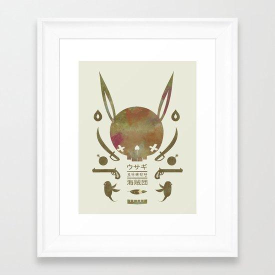 토끼해적단 TOKKI PIRATES Framed Art Print