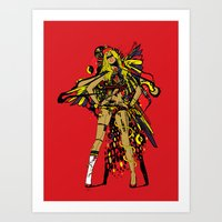 HATHOR ~ RED Art Print