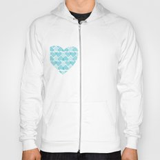 Blue, blue heart Hoody