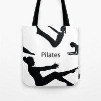 Pilates Silhouettes I Tote Bag