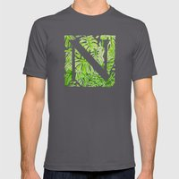 Letter N Mens Fitted Tee Asphalt SMALL