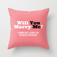 Marry Me Throw Pillow