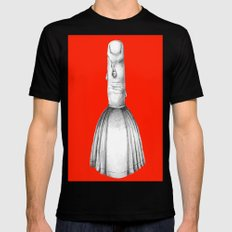 finger dipped in wax... obviously hot Black SMALL Mens Fitted Tee