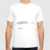 Star Wars Vehicle Speeder Bike Mens Fitted Tee White SMALL
