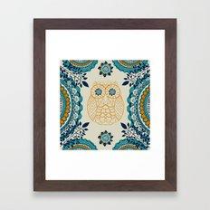 BOHO Owl Framed Art Print