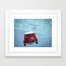 deep water swimming mini #1 Framed Art Print