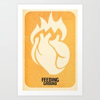 FEEDING GROUND Sacred Heart Art Print