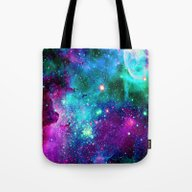 Tote Bag featuring Purple Pink Blue Nebula by Haroulita