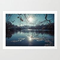 India - Blue lake Art Print