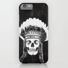 Skull Indian Headdress - black Slim Case iPhone 6s