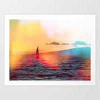 Sailboat. Art Print
