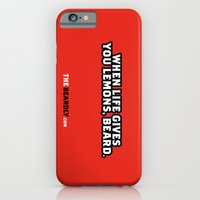 iPhone & iPod Case featuring WHEN LIFE GIVES YOU LEMONS, BEARD. by The Beardly