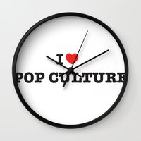 I Heart Pop Culture Wall Clock