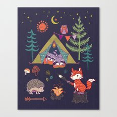 Racoon's Campout Canvas Print