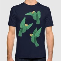 Cotorras Mens Fitted Tee Navy SMALL