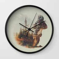 Norwegian Woods: The Squ… Wall Clock
