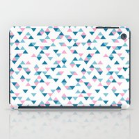Triangles Blue and Pink Repeat iPad Case