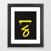 No. 7. Dead Man Framed Art Print