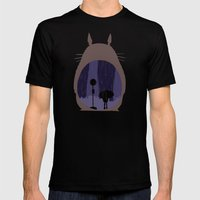 Rainy Day (totoro) Mens Fitted Tee Black SMALL
