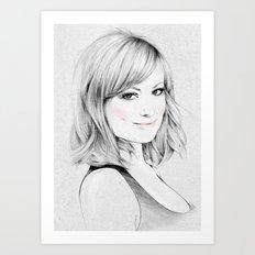 Olivia Wilde portrait Art Print