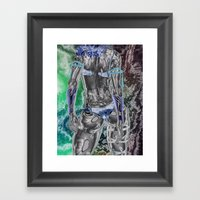 Sharp Dress Abstract Gir… Framed Art Print
