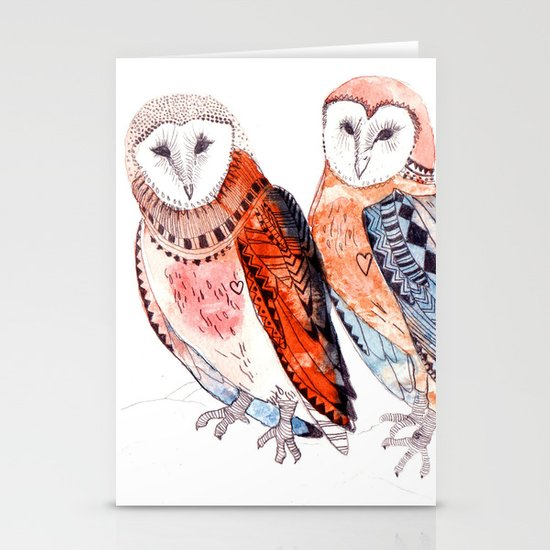 LOVE owls Stationery Card
