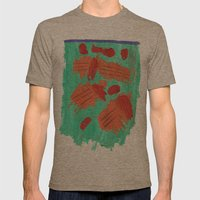 Traces on a grass... Mens Fitted Tee Tri-Coffee SMALL
