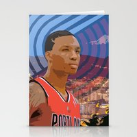 Portland TrailBlazers Da… Stationery Cards