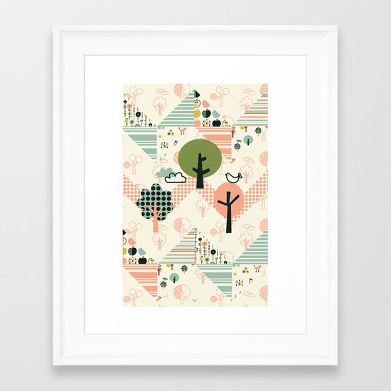 Apple Orchard Zig Zag Framed Art Print