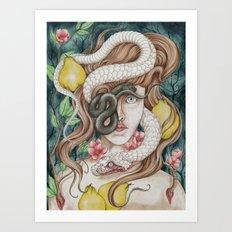 Ophidiophobia Art Print