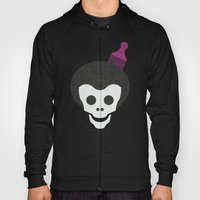 Skull with Afro. Hoody