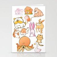 Animals! Stationery Cards