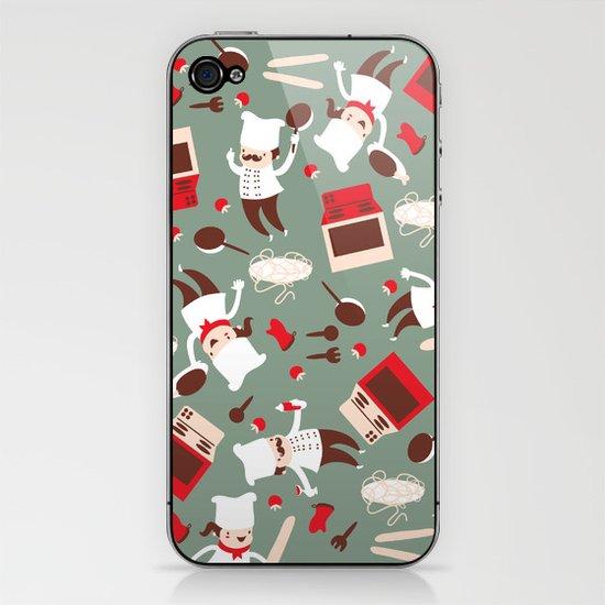 Chef pattern iPhone & iPod Skin