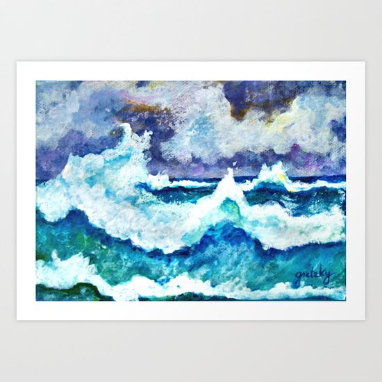 Stormy Sea Art Print By Gretzky Society6