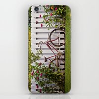 Bike With Fence & Flower… iPhone & iPod Skin